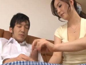 冴島かおり 息子と相互オナニーからシゴいてパイズリ射精させる巨乳母