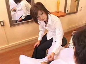 美容師 手コキ