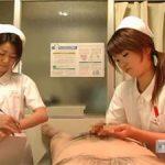 ED検査の為に手コキして射精までの時間を計測するナース