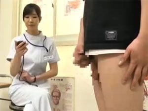 雨宮琴音 ED患者の勃起するまでの時間を計測し手コキ射精させる美人ナース