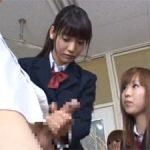 ウブな女子校生が時間を止めて男子生徒のチンポを手コキ!