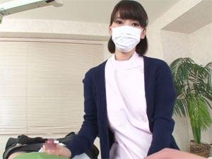 【芦名ユリア】淡々と手コキして射精に導く歯科衛生士