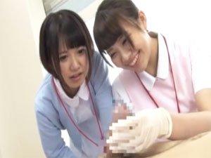 ピンセットで挟んだだけでフル勃起する患者をゴム手袋コキで暴発w