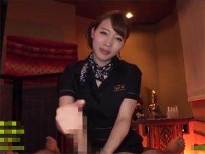 【本田岬】緩急を付けた手コキで射精に誘うエステティシャン!