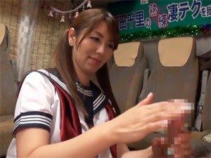 翔田千里の熟練の手コキテクに我慢できれば生★中出しSEX